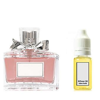 Christian Dior Miss DiorFor Her Inspired Fragrance 100ml Refill Essential Diffuser Oil Burner Scent Diffuser