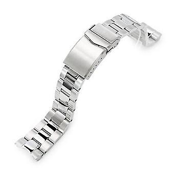 セイコーミニタートルsrpc35、vクラスプ、磨きブラッシュ用ストラップコード腕時計ブレスレット20mmスーパー3dオイスター316lステンレススチールウォッチブレスレット