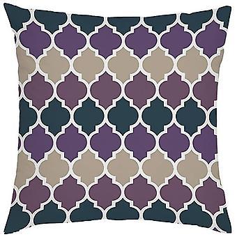 Gardenista Decorative Garden Cushion Cover 45x45 cm | Lantaarnontwerp Ultra Violet | Zacht water - Bestand stof voor duurzaamheid | Waterdichte buitenkussenhoezen | Marokkaanse collectie voor tuinen
