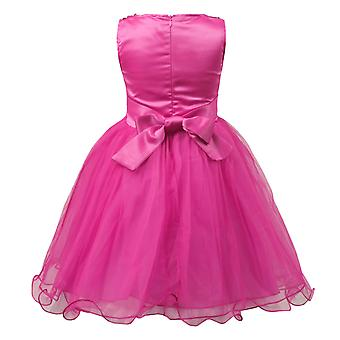 JerrisApparel Little Girls' Sequin Mesh Flower Ball Gown Party Dress Tulle Pr...