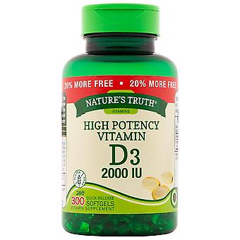 Nature's truth high potency vitamin d3, 400 UI, tablets, 100 ea