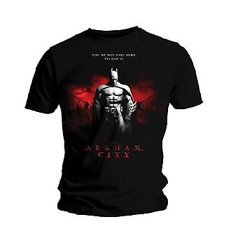 Batman Arkham City You-apos;re Not Safe Here (Black) T-Shirt - Small