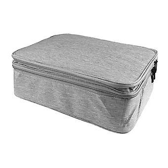 Saco de documentos com 13 compartimentos - Cinza