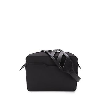 Off-white Omna070s20a660201000 Men's Black Leather Messenger Bag