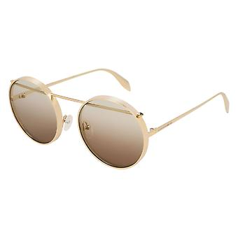 Alexander Mcqueen AM0137S 001 Gold/Brown Gradient Sunglasses