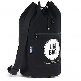 JIMBAG Black & Cream Travel Fitness Gym Drawstring Duffle Outdoor Bag