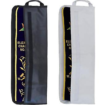 Officers sash bag case with velcro - white & black