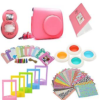 Accessory Sets for Fujifilm Instax Mini 8/9-Flamingo Pink