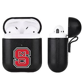 NC State Wolfpack NCAA Fan Brander Black Leather AirPod Case