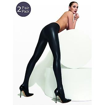 Trasparenze Allen Leather Look Tights 2 Pair Pack