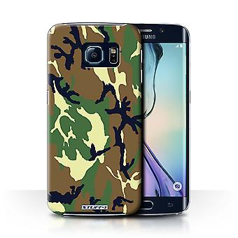 STUFF4 Case/Cover for Samsung Galaxy S6 Edge/Green 4/Camouflage Army Navy