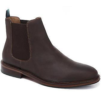 Jones Bootmaker Mens Bejamin Oiled Leather Chelsea Boot