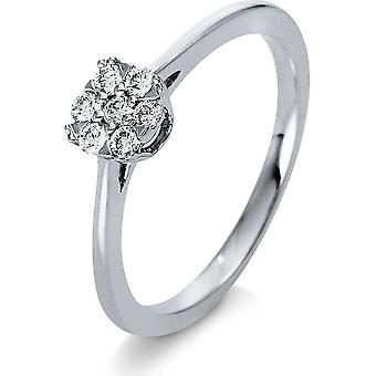Diamond Ring Ring - 18K 750/- White Gold - 0.18 ct. - 1Q208W853 - Ring width: 53