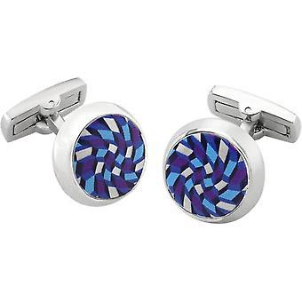 Duncan Walton Feldspar Luxury Enamel Cufflinks - Blue