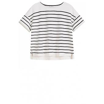 Sandwich Clothing Anthracite Striped Top