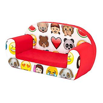 Ready Steady Bed Kids Children Mini Lounger | Kids Sofa Seat Chair | Great for Playroom kidsroom Living Room | Colourful Lightweight and Durable (Emoji)