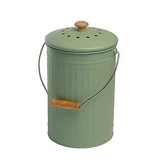 Eddingtons 7 Litre Compost Pail, Sage