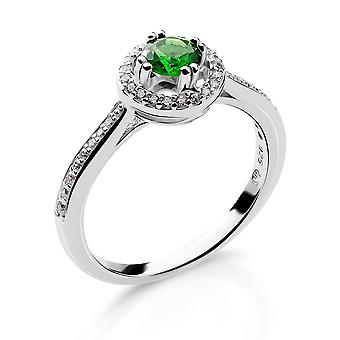Orphelia Silver 925 Ring With Zirconium and Green Stone