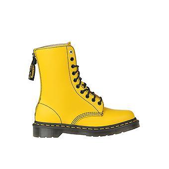 Dr. Martens Ezgl504001 Botas de tobillo de cuero amarillo para mujer's