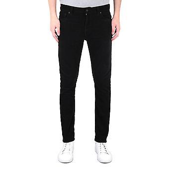 Nudie Jeans Co Lean Dean Slim Black Cord Trousers