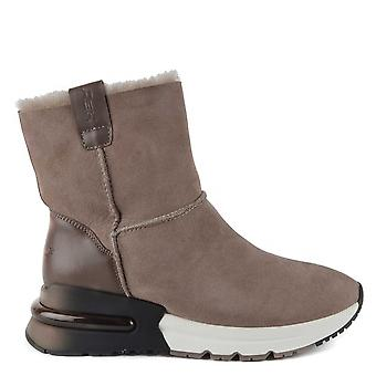 Ash Footwear Kyoto Taupe Shearling Boots