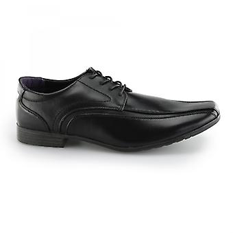 US Brass Hauser Mens Wide Fit Shoes Black