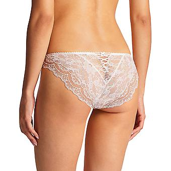 Aubade ND27 Women's Soleil Nocturne Opale Off White Floral Lace Geborduurde Knickers Panty Full Italian Brief