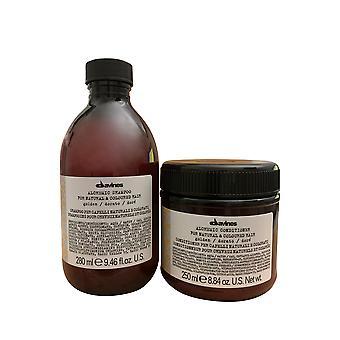 Davines Alchemic Golden Shampoo 9.46 OZ & Conditioner 8.45 OZ Set