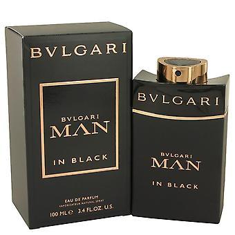 Bvlgari homem em preto Eau De Parfum Spray por Bvlgari 3,4 oz Eau De Parfum Spray