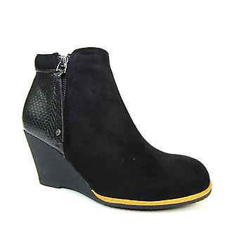 Lunar Keaton svart fotled boot