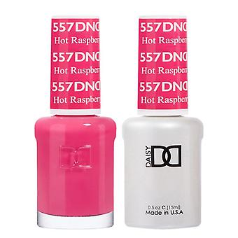 DND Duo Gel & Nail Polish Set - Hot Rasberry 557 - 2x15ml