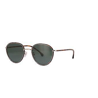 Paul Smith ALBION SUN PSSN003V2 02 Dark Turtle On Silver/Green Sunglasses