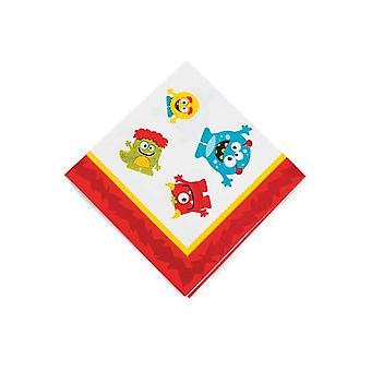 16 Kleine Mini Monster Papieren Servetten | Outer Space Party levert decoratie
