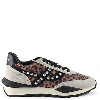 Ash SPIDER STUDS Eco Trainers In Cheetah Print