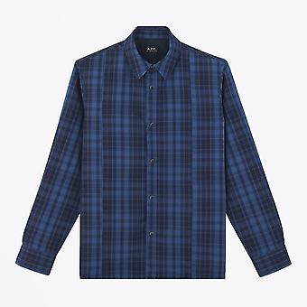 A.P.C.  - Plaid Quilted Shirt - Blue