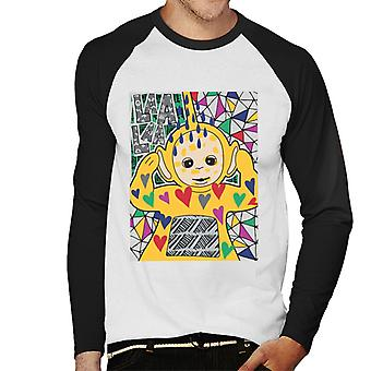 Teletubbies Laa Laa Hearts Men's Baseball Long Sleeved T-Shirt