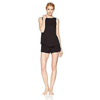 Marke - Mae Women's Sleepwear Sleeveless Split Back Top und Kurze Paja...