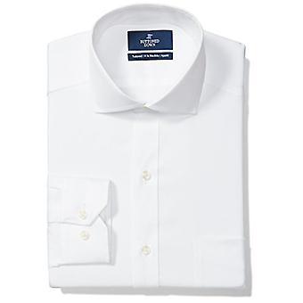 KNAPPET NED menn's skreddersydd passform cutaway-krage solid ikke-jern kjole skjorte (p...