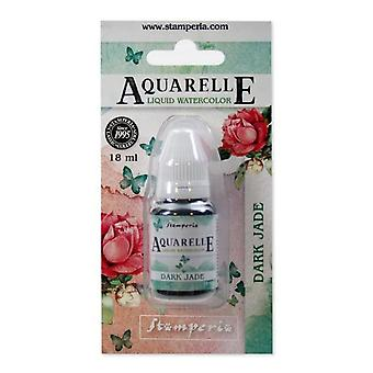 Stamperia Aquarelle Watercolor Dark Jade (18ml) (KAWCL06)