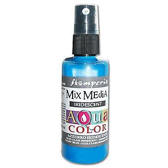 Stamperia Aquacolor Spray 60ml Iridescent Light Blue