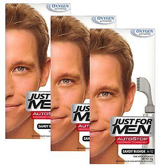 3 x bara för män Pauseringar hår färg Autostop - Sandy blond A10