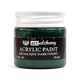 Finnabair Art Alchemy Acrylic Paint Metallique Dark Forest