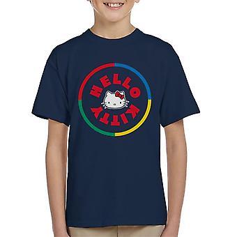 Hello Kitty Multicoloured Circle Kid's T-Shirt