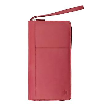 Primehide Womens Leather Travel Planner Organiser Wallet RFID Blocking 9300