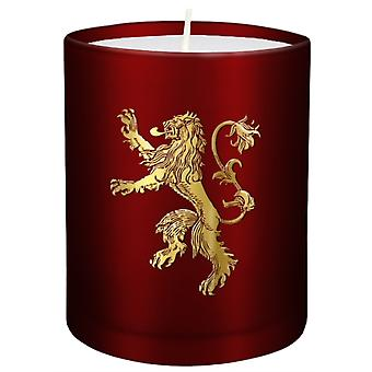 Game of Thrones House Lannister Large Glass Candle by Insight Editions