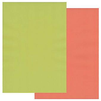 Groovi Perkament Papier A4 Twee tonen Lime Twist-Orange Squash