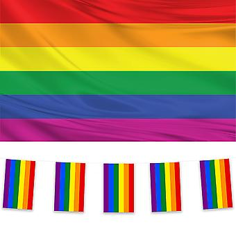 Rainbow Flag & Bunting Pack