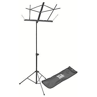SM7122BB, Compact Sheet Music Stand (Noir, avec sac)