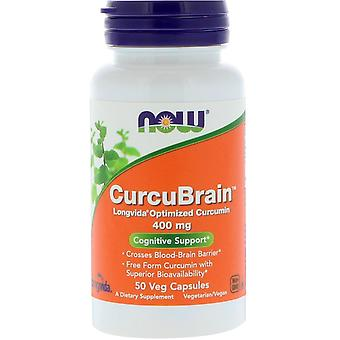 Nu Foods, CurcuBrain, Cognitieve Ondersteuning, 400 mg, 50 Vegetarisch Capsules