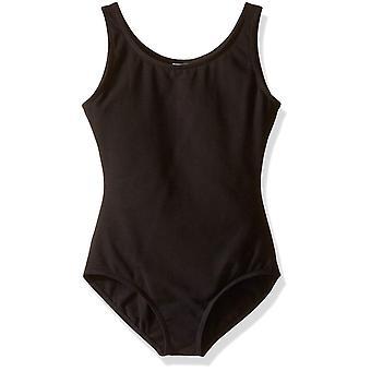 Capezio grote meisjes ' hoge hals tank leotard, zwart, zwart, maat medium (8-10)